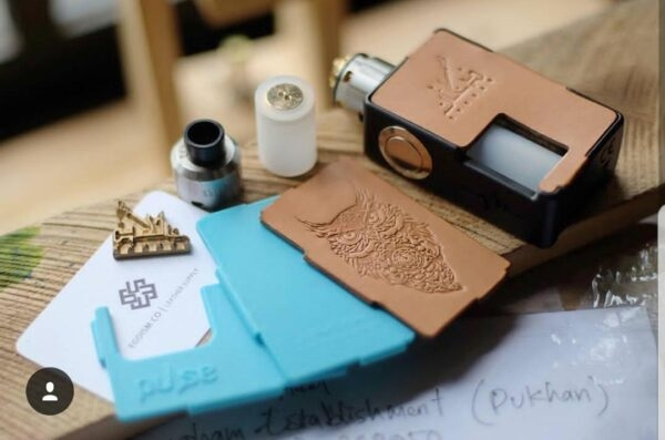 PULSE BF BOX MOD, Real Leather Panel, DUKHAN SPECIAL EDITION - VANDYVAPE