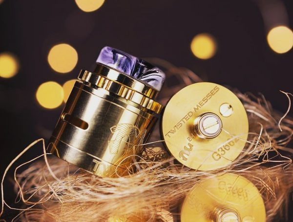 24k gold plated base -  acrylic 810 drip tip