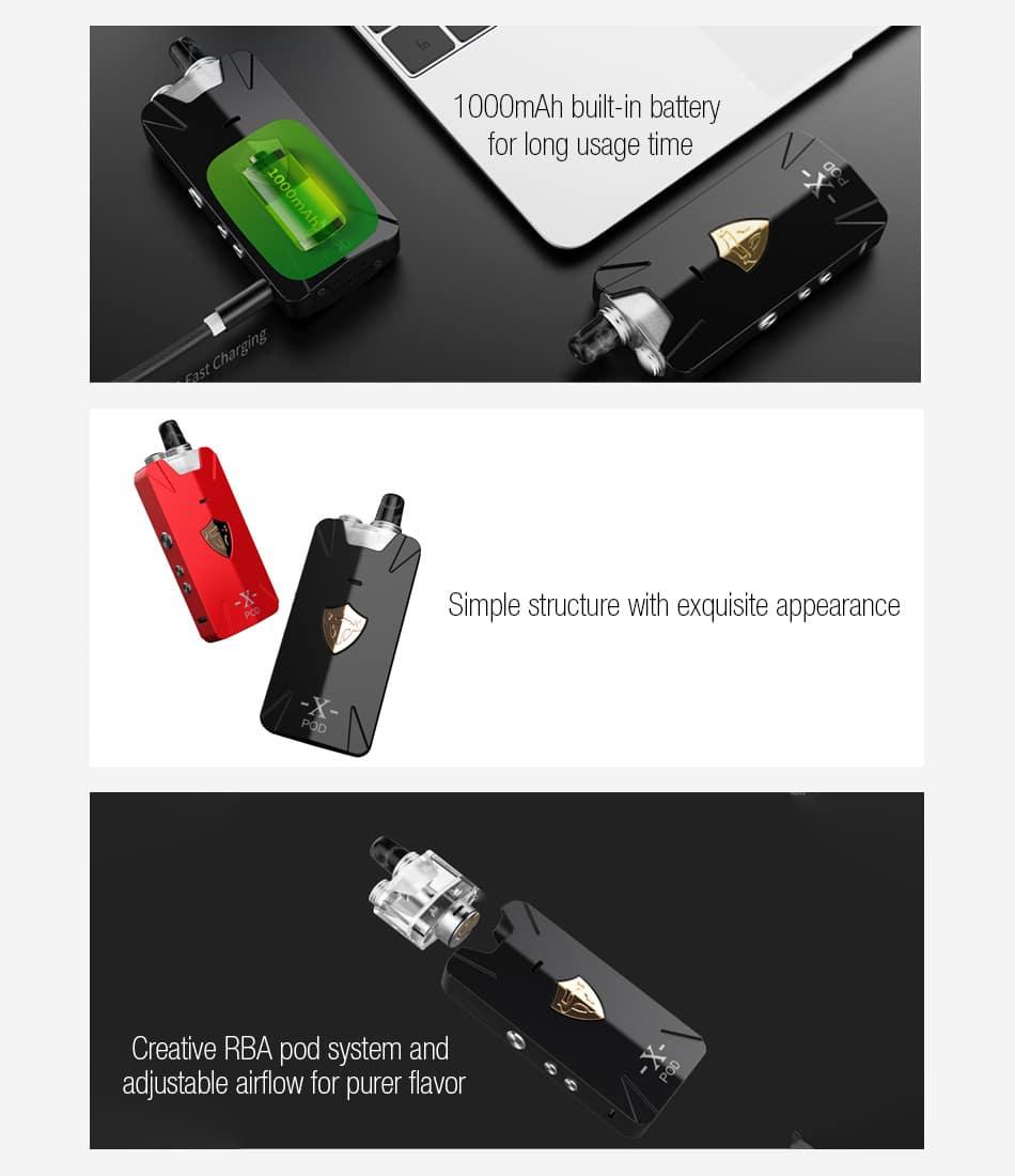 THC Tauren X Pod Kit 1000mAh