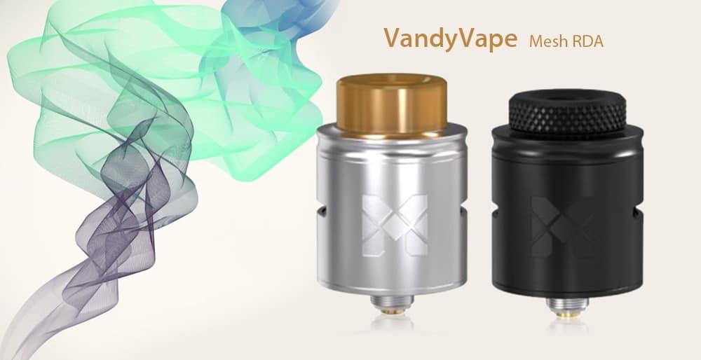 VandyVape Mesh RDA with Postless Deck / Side Airflow for E Cigarette- Black