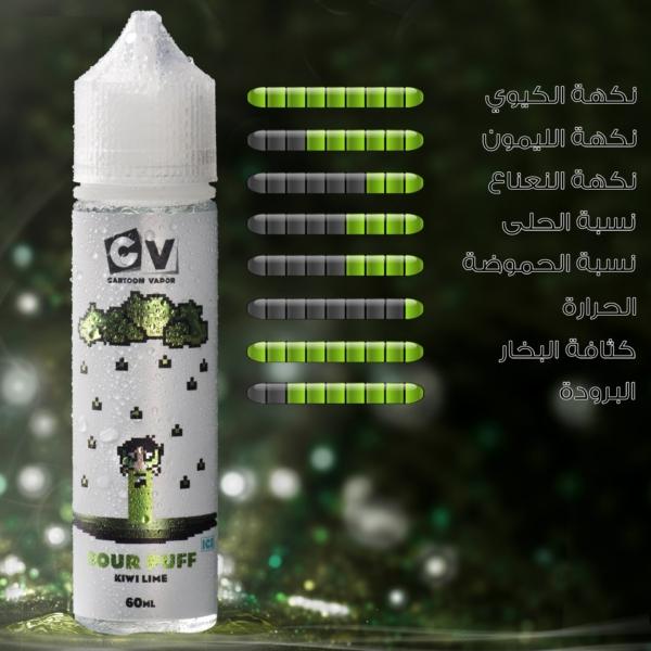 CV - Sour Puff - Kiwi Lime ICE (60ML) 4mg
