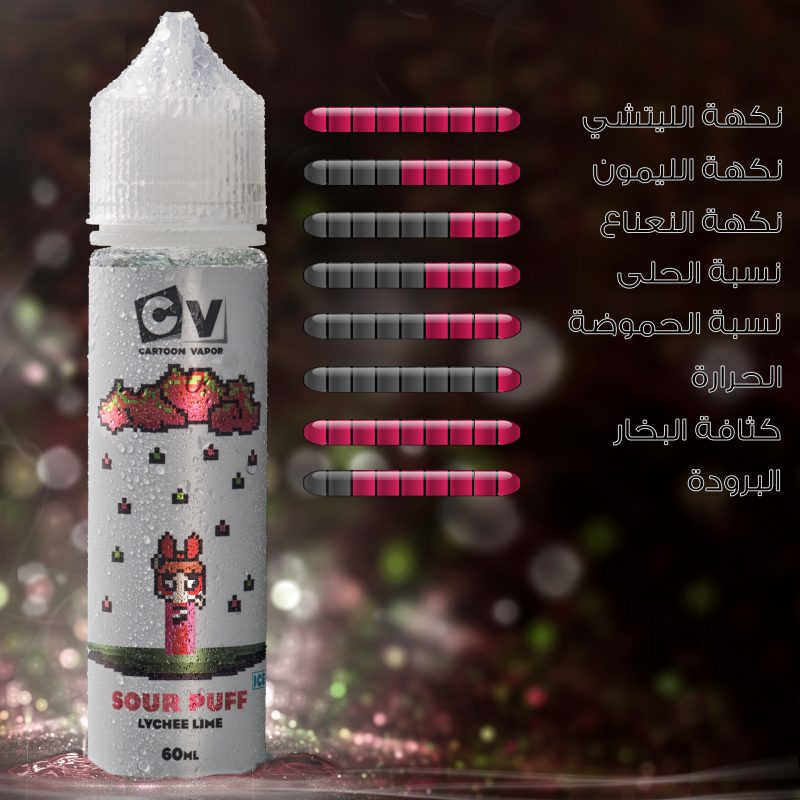 CV - Sour Puff - Lychee Lime ICE (60ML) 4mg
