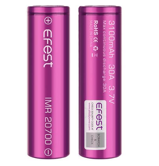 Efest IMR (20700) 3100mAh 30A 3.7V Purple Battery