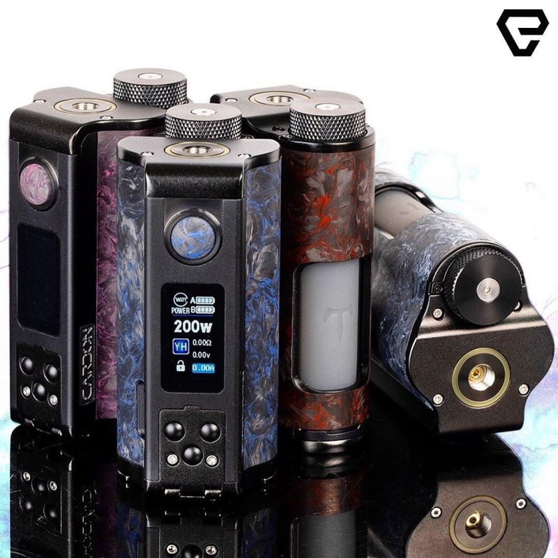 DOVPO- TVC YIHI TOPSIDE DUAL CARBON 200W SQUONK MOD