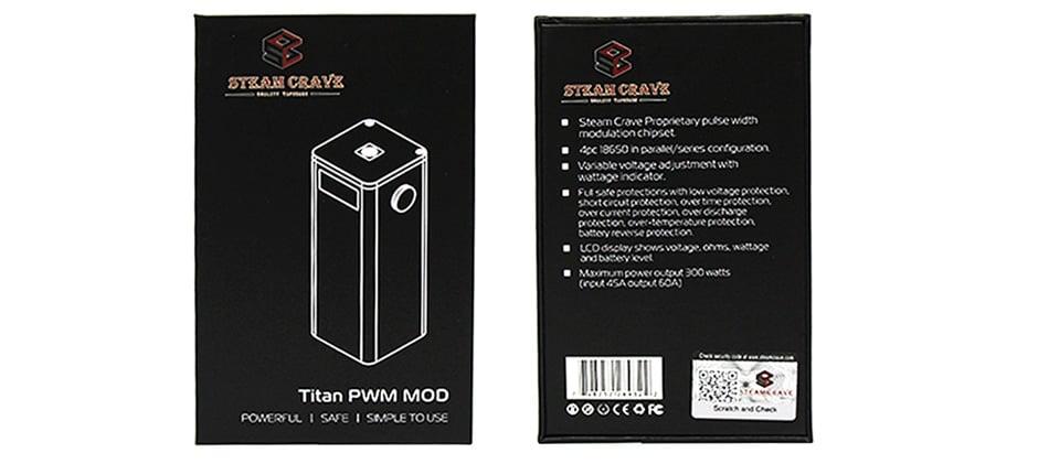 Steam Crave Titan PWM VV Box MOD