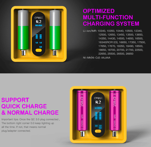 EFEST - IMATE R2 INTELLIGENT QC CHARGER