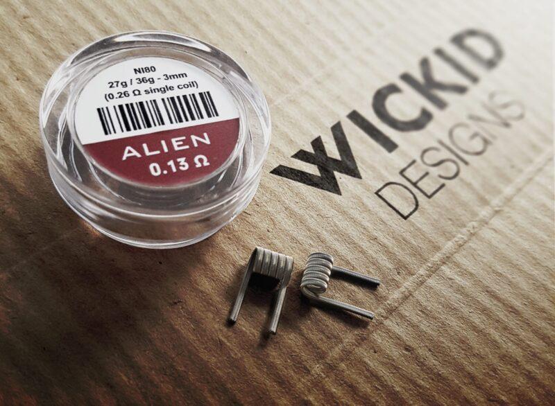 Wickid Alien - 0.13 ohms - 3mm (4coils)