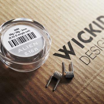 Wickid Alien – 0.16 Ohms – 3mm (4coils)