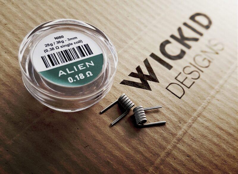 Wickid Alien - 0.18 ohms - 3mm (4coils)