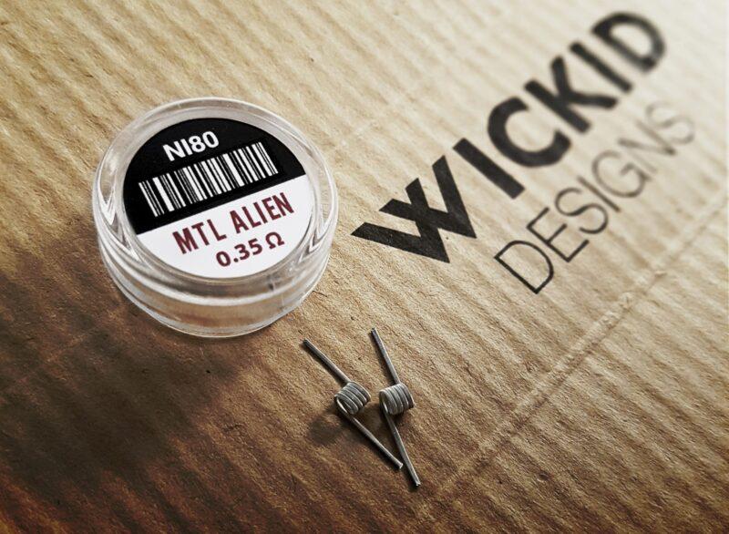 Wickid Coils - MTL Aliens (0.35 ohm)
