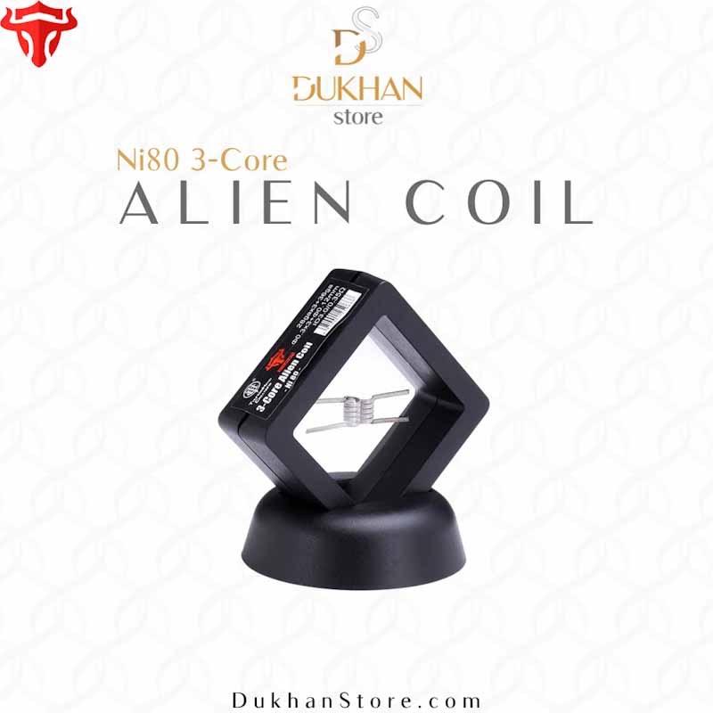THC - Hand Craft Alien 3-Core Coil Ni80 0.35ohm (2PCS)