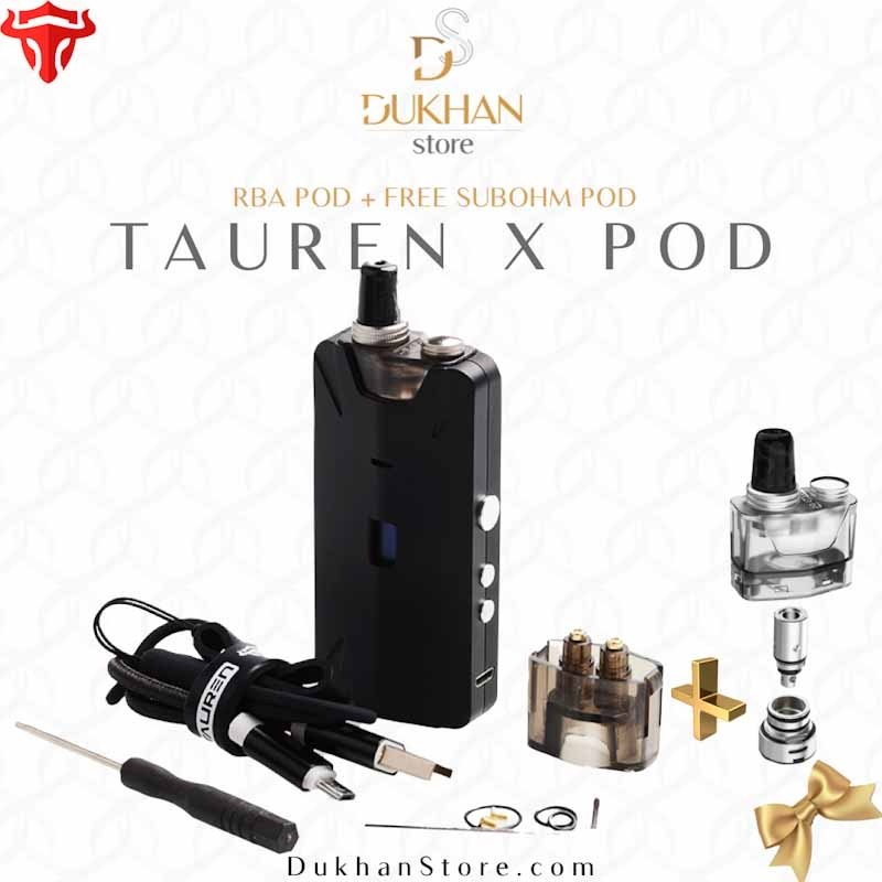 THC - Tauren X Pod Kit 1000mAh - RBA Edition